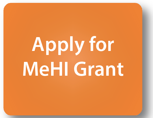 "Orange box with text ""Apply for MeHI Grant"""